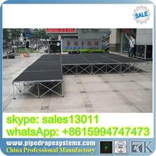 event stage setup 18mm aluminum adjustable stage platform