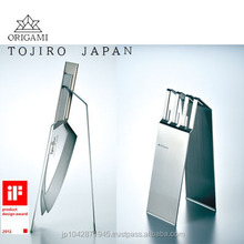 iF DESIGN AWARD TOJIRO ORIGAMI stylish shaped knife display stand Made in Japan