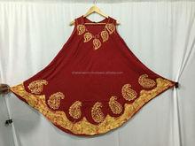 2015 Latest design boutique floral dress linen tie dye umbrella dress ladies like