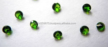 Natural Green Chrome Diopside Round Cut
