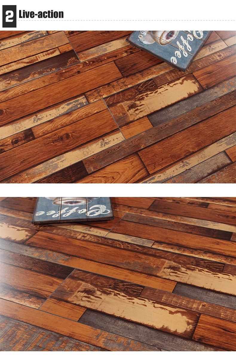 내 바닥 장식 클립 잠금 방수 라미네이트 나무 바닥-조작 바닥재 ...