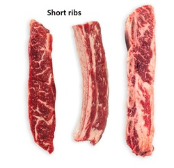 Short ribs from beef frozen and halal certified