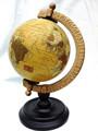 Globo en el stand, globo antiguo en soporte de madera, mundo Oficina globos globos, globos decorativos, globos de mesa