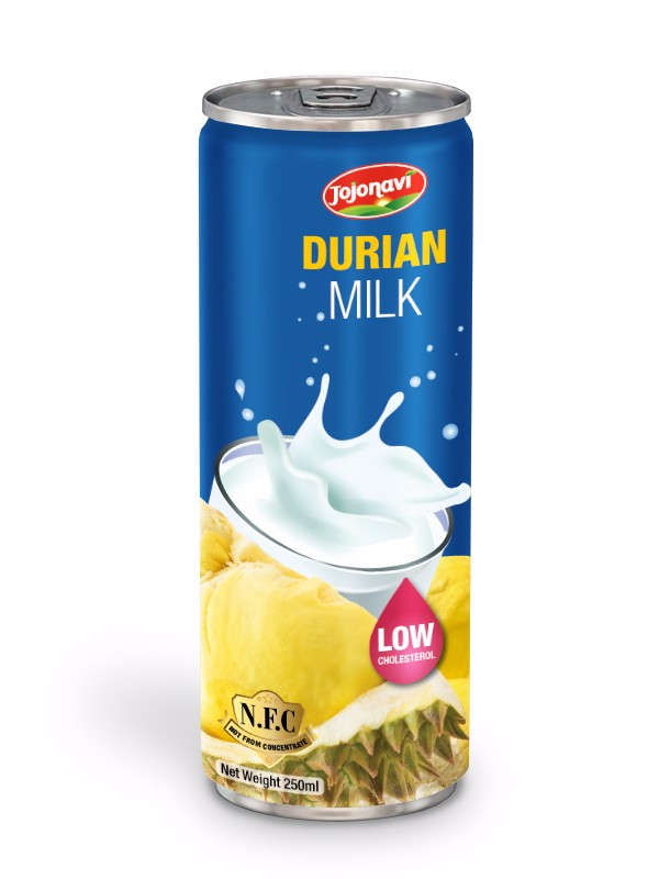 Durian juice Manufacturers Fresh durian milk for sale fruit juice can 250ml.jpg