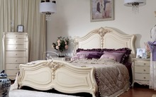 French bedroom furniture set/ italian classic luxury adult room furniture/ rococo french furniture palace bedroom