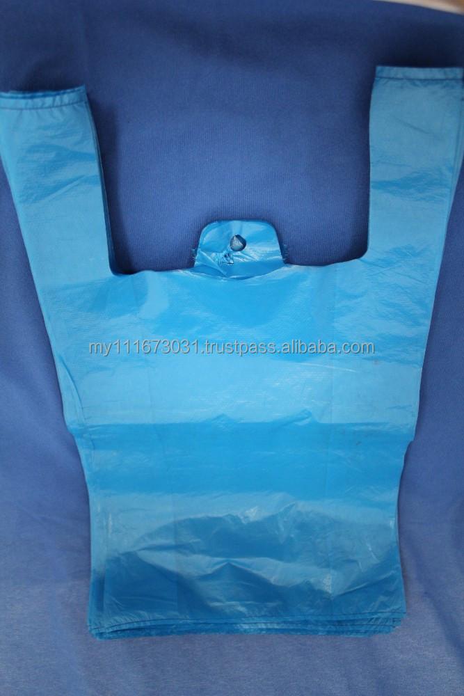 Printed plastic bag vest carrier bags t shirt bags for Custom plastic t shirt bags