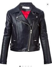 lady fashion leather jacket
