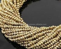 Gold Pyrite Beads Material Natural Stone Beads Semi Precious Beads