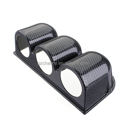 New Universal Fashionable and Beautiful 52mm Carbon Fiber Look Dash 3 Hole Gauge Meter Mount Holder Pod