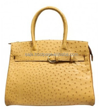 Ostrich leather handbag SOH-011
