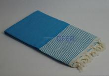 HASIR PESHTEMAL - (Turquoise Color) Turkish hammam, pestemal towel Direct from Factory, Beach Bath Spa Yacht Gym Sport use