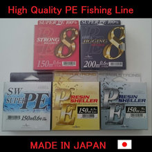 Easy to use pe braid made in japan fishing line for pastime small lot order available