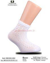 White Color Ankle Fishnet Socks for Children