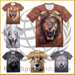 New Mens Womens Casual Short Sleeve Round Neck 3D sublimation Cat Animals Print Top T-Shirt