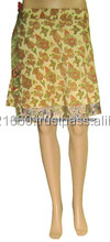 Two Layer Indian Vintage Silk Magic Wrap Skirt