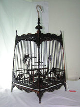 Wood Bird Cage.