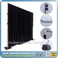 Telescopic Portable Pipe and Drape for Trade Show/Exhibition Booths