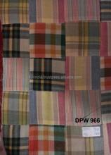 Madras Check Patchwork handmade pure fabrics For Pant