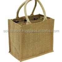 T054, LIVE GREEN, jute wine bottle bag wholesale