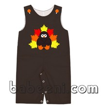 Cute turkey applique longall for Thanksgiving - BC 552