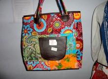 BRKH- 19 Mix shade Shoulder Tote bag Fruitprint Kantha Stitch handmade Multipurpose Shoulder Tote Bag Manufacturer from Jaipur