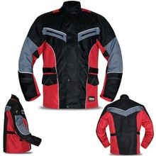 New Mens Armoured Motorbike Jacket Cordura Quilted Water Resistant Reflective