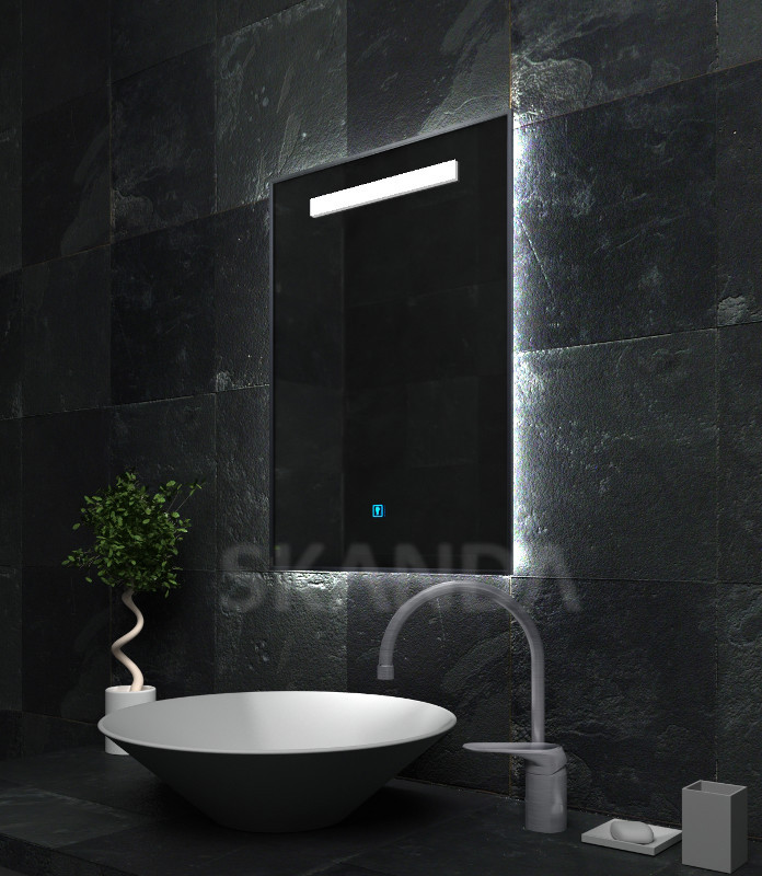 exclusif led de bain douche miroir avec radio panneau lecteur mp3 temp rature calendrier. Black Bedroom Furniture Sets. Home Design Ideas