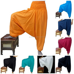 Indian Ali Baba Harem Yoga Men Women Trouser Baggy Gypsy Boho Cotton Hippie