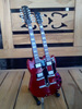 Led Zeppelin Jimmy Page Double Neck Miniature Guitar - Red Color Export Quality With Stand