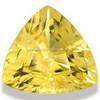 Yellow Aquamarine Trillion Cut Gemstones Semi Precious gemstone