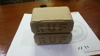Wood briquettes (RUF briquettes) made from hardwood sawdust