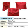 Toiletry pouch / cosmetic pouch / clutch bag (red)