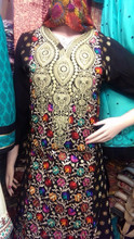 Flower embroidery 3 piece suit
