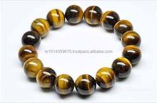 Prices Of Tiger Eye Beads AAA Grade Gemstone wholesale price natural stone Round Bead yellow rough tiger eye