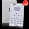 Ultra-thin Touch Screen JAVA GSM Phone with FM Radio Music Player Bluetooth - White