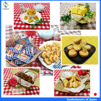 Famous tasty biscuit and cookie baked goods with crispy texture