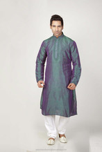 Teal Blue, Violet color Kurta Pyjama