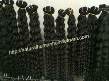 100%Unprocessed Remy Brazilian human virgin hair double Drawn wavy curly weft hair cheap