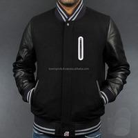 Custom Nylon Varsity Jacket/Quilted Nylon Jacket/100% woolen Bomber Jacket for Men Design BI-3232