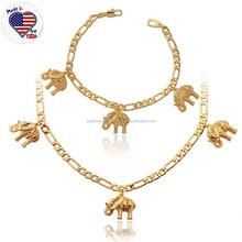 Fashion Animal Jewelry Set Stainless Steel 18K Gold Elephant Jewelry Set