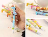 Plastic lpoint Pen Giraffe mixed colors 140mm 200PCs/Lot Sold By Lot