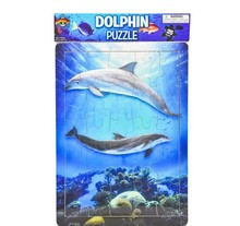 25 PC WOODEN DOLPHIN PUZZLE