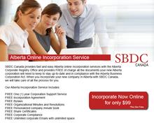 Alberta Incorporation Service $99