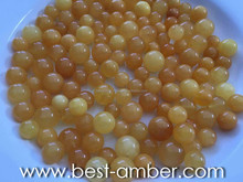 ANTIQUE AMBER BEADS. POLISHED & DRILLED. BEST QUALITY. DELIVERY SERVICE