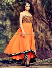Kangana Ranaut Orange Georgette Anarkali Suits