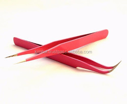 eyelash extension straight and curved tweezers/ best tweezers for eyelashes extension