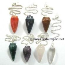 Clear Quartz 6 facets Pendulums