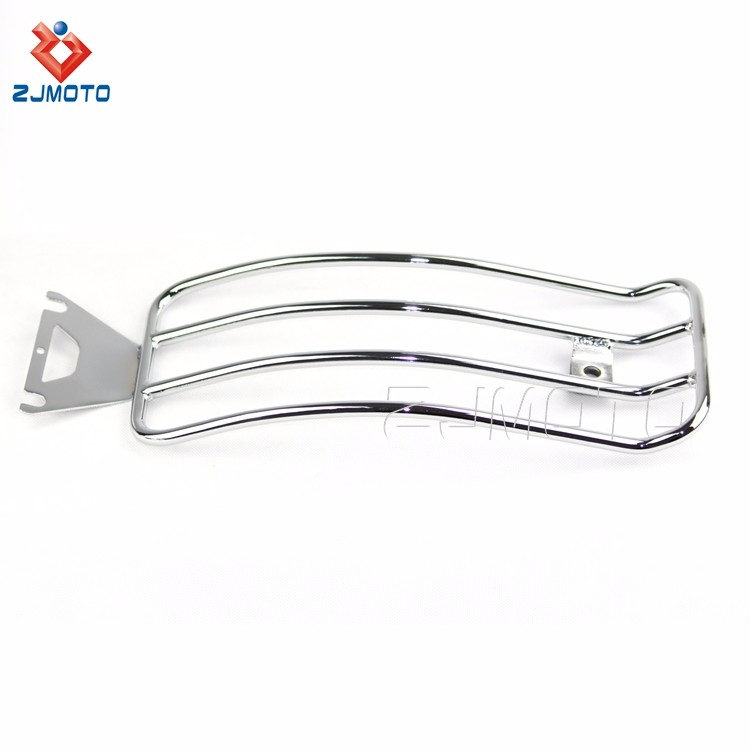 For HARLEY TOURING ROAD KING BAGGER High Quality ALLOY Motorcycle Luggage Rack Chrome Cargo Travel Rack (1).jpg