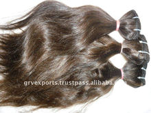double weft shed free and full cuticle virgin indian hair