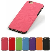 Green Hybrid Dotted Pattern TPU & PU Rubberized Slim Fit Thin Flexible Cover Case for iPhone 6 & 6s 4 Wholesale Los Angeles